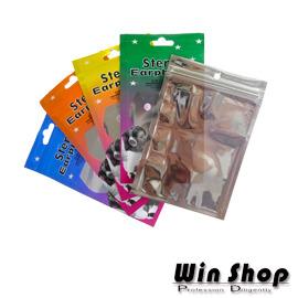 【winshop】夾鏈袋耳機套,客製化彩色套子,有多種顏色可供選擇,封口做密封式可放各式飾品
