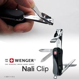 瑞士WENGER Nail Clip ST 580.814黑色 九用瑞士刀 指甲剪 #1.580.011.814