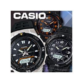 CASIO 時計屋 卡西歐手錶 AQ~S800W~1B 雙顯錶 橡膠錶帶 太陽能 LED