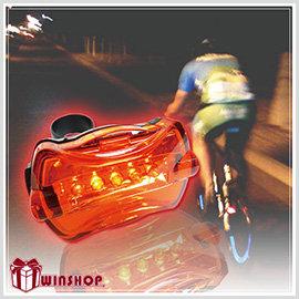 【Q禮品】B0975 5LED 高亮度腳踏車尾燈/後燈/夜間安全/警示/自行車/閃光車尾燈,附專用快拆腳架