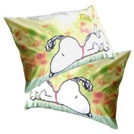 [SNOOPY]-大版面史努比卡通授權圖案-枕頭套(2入組)PO4778CL-GR-2[花草綠]枕頭套