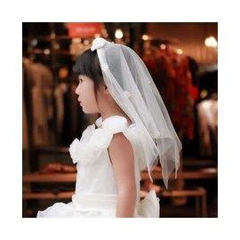 C06 喜宴婚禮 浪漫頭紗 髮圈 髮飾髮箍 伴娘 藝術照 結婚拍照紗禮服花童服表演服 兒童