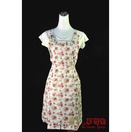 H型鄉村風花布圍裙~Y002花季~物超所值喔~