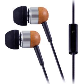 Walkbox代理【aponyo 天然櫻桃原木線控入耳式耳機麥克風(213)】 可在蘋果 Apple iPhone/HTC/SonyEricsson等智慧手機或一般手機皆可使用