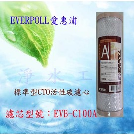 【淨水工廠】EVERPOLL愛惠浦公司貨一般標準型CTO活性碳濾心/活性碳濾芯EVB-C100A/EVBC100A