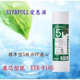 【淨水工廠】《台灣製造~美國NSF認証》EVERPOLL台灣愛惠浦10吋標準型5微米PP濾心EVB-F105/EVBF105