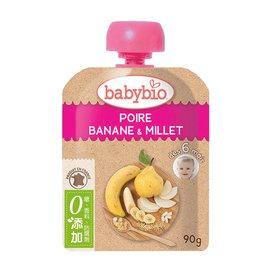 【安琪兒】法國【倍優babybio】有 機洋梨小米纖果泥90g(6個月)