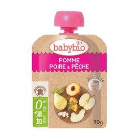 【安琪兒】法國【倍優babybio】有 機蘋果洋梨纖果泥90g(6個月)