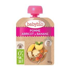 【安琪兒】法國【倍優babybio】有 機香蕉杏桃纖果泥90g(6個月)
