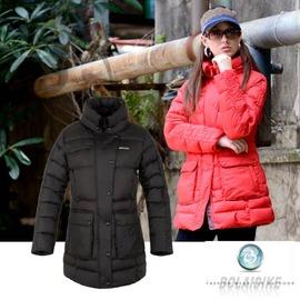 【波萊迪克 Bolaidike】 女 單件式保暖透氣羽絨外套.夾克.羽絨衣.保暖外套 /防潑水_紅、黑 TF029 (非SAMLIX)