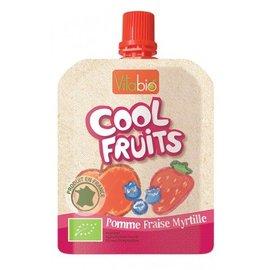 【安琪兒】法國【倍優babybio】VITABIO 有 機優鮮果-蘋果、草莓、藍莓90g(12個月以上)