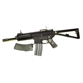 ~掠食者~ 製WE^(偉益^)GBB全金屬8吋 10吋 PDW 雙彈匣 全開膛 黑色卡賓瓦