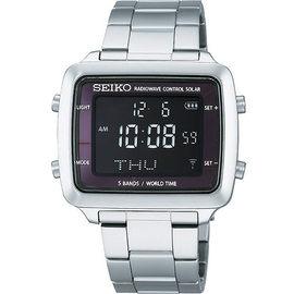 SEIKO ^(S760~0AB0S^) Spirit 太陽能的天龍電波世界時區 腕錶 ~