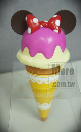 迪士尼可爱甜筒冰淇淋造型原子笔_米妮款