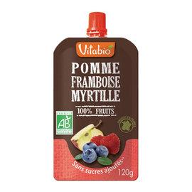 【安琪兒】法國【倍優babybio】VITABIO 有 機優鮮果PLUS蘋果覆盆莓120g