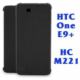 【特惠中】HTC One E9+ dual sim 炫彩顯示原廠皮套/側掀手機保護套/側開保護殼 Dot View HC M221