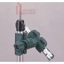 47165多用途手電筒夾 / 短鋁管夾(露營燈夾) 可調整角度