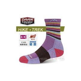 美國製 DARN TOUGH 美麗諾羊毛襪 Cusion徒步.健行襪 保暖襪 #1466梅紫條紋