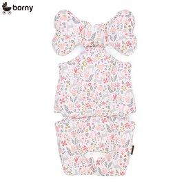 【安琪兒】韓國【 Borny 】 全身包覆墊(推車、汽座、搖椅適用) (粉小鹿)
