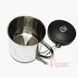ARC-156-13S野樂Camping Ace雙層小不鏽鋼杯(銀)(附蓋+指北針)容量:130ml