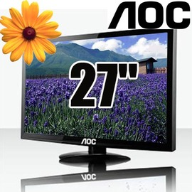 AOC E2795VH 27吋LED寬螢幕液晶顯示器 ~5Cgo  貨 含稅 ~