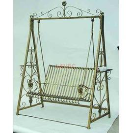 戶外休閒  P47~ ^#88106 鍛造鐵板搖椅 含頂蓬