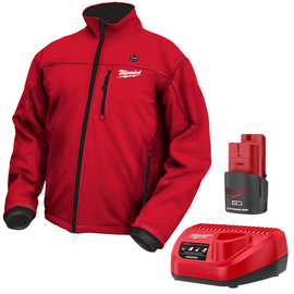 Milwaukee 12V鋰電發熱紅色夾克2330(含電池、充電器)★防水和防風★三種溫度設定★充飽電可用長達6小時