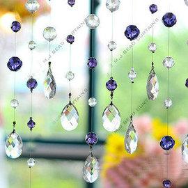 ^~圍的世界^~訂作深紫色正品水晶珠簾 水晶門簾 隔斷簾