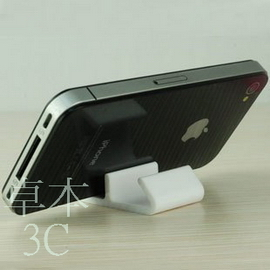 iphone 4/4s HTC/PDA/智慧型手機/ 迷你小底座/支架  (白/黑/透明/桃紅) [GRO-00005]