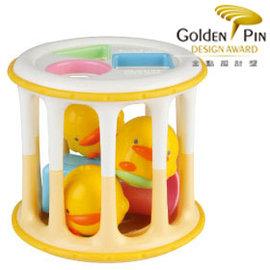 黃色小鴨造型積木滾筒       *訓練手部/視力/聽力發展!!!!*