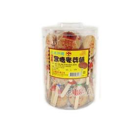 【吉嘉食品】純手工-沖繩黑糖麥芽餅棒.1桶(60入)245元.濃郁黑糖香,好吃不黏牙{NG01:1}