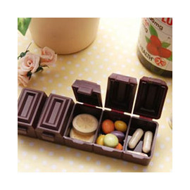 風靡日本 超逼真五格巧克力藥盒/糖果盒/迷你藥盒/維他命盒