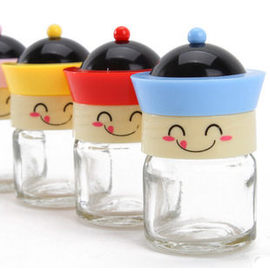 PS Mall 可愛的笑臉公仔 收納調味瓶 調味罐 一組兩個~J1037~