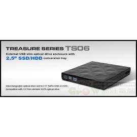 銀欣Silverstone TS06 薄型光碟機外接盒~將內建SATA介面改成外接式USB