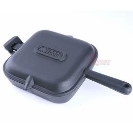 日本LOGOS NO.81062221四角薄型荷蘭煎鍋/荷蘭鍋/鑄鐵煎鍋/鑄鐵鍋