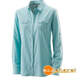 ~Wildland 荒野~女拉鍊可調節抗UV襯衫 UPF30 防曬襯衫 登山休閒服 透氣排