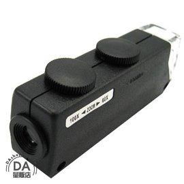 筆型 迷你 LED光源 60~100倍 顯微鏡 放大鏡 攜帶式 微調焦距^(16~178^