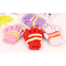 人氣爆可愛款 糖果色超Q 保暖防寒珊瑚絨毛手套(S)