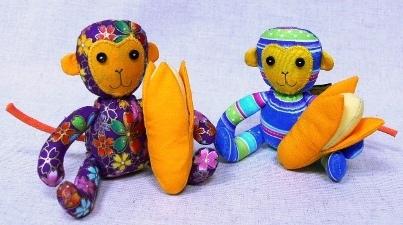 手工布偶-小猴子