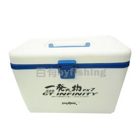 ◎百有釣具◎太平洋POKEE  一發大物 白色 高含氧 FX-7 輕小型 7公升 活餌筒兩用 冰箱 內有附網 ~