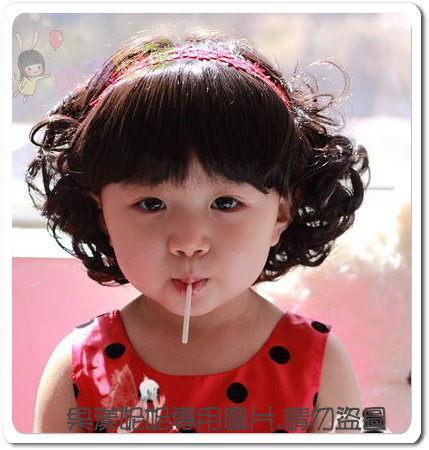 独特 俏丽短卷发-儿童假发/拍照/写真超可爱的喔/进口高温丝[q0016]