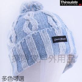 AR-60雪之旅 snow travel  3M防風透氣保暖羊毛帽 Thinsulate 防寒帽防風帽保暖帽