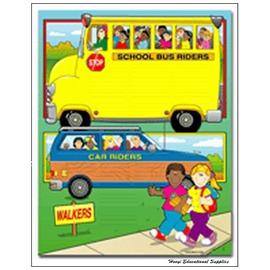 【CD-0393】Car Rider  Bus Rider  Walker 教學海報