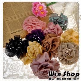 【Q禮品】玫瑰造型水鑽紗質髮圈/髮束/頭飾/髮飾/飾品/精品/配件/新娘秘書/伴娘,輕鬆打造優雅氣質
