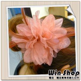 【winshop】新娘祕書必備頭飾胸花(款三),婚紗雙色漸層質感胸花/髮夾/髮飾/裝飾/飾品/精品/胸針