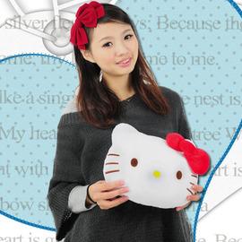 凱蒂貓造型抱枕 P002-0124(kitty靠枕.凱蒂貓抱枕玩偶.kitty抱枕娃娃.車枕頭.絨毛玩具.便宜)