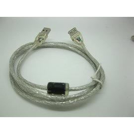 [DUO0003] 超粗耐用帶屏蔽USB延長線 公對母原裝USB延長線 USB 2.0 (1.5米) 透明