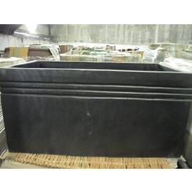 水磨石長型花槽 馬槽 豬槽^(長型黑色花槽^)~^(長80x寬40x高40CM^) 超優