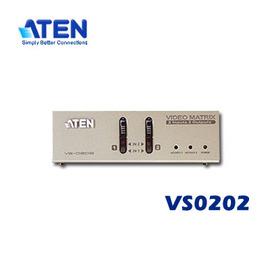 ATEN宏正 VS~0202 VS0202 2埠矩陣式螢幕分配器^(D~sub 音效^)