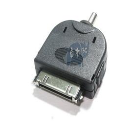 IPOD& iPHONE 4/4s 充電轉接頭 iphone 40P(公)對圓孔(公) 3.5mm  [JI40001]